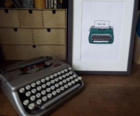 Typewriter (Green) 4