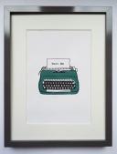 Typewriter (Green) 5